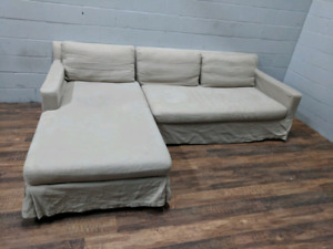 Restoration Hardware - Luxe 'Belgian Track Arm' Sectional Sofa