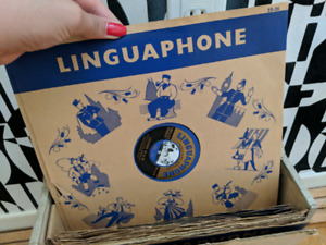 VINTAGE Linguaphone - Learn English (Portuguese)