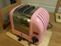 Dualit 2 Slice Toaster - Great Working Condition - Pink