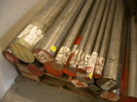 H13 alloy tool steel round bar, 4' lengths in assorted diameter