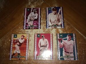 1995 Cooperstown Collection - 5 Card Babe Ruth Metal Set