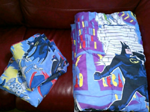 Retro type BATMAN comforter and sheet set NO pillowcases