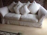 White 3 seater sofa