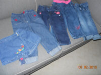 4 GIRLS JEANS AND 1 JEAN SKIRT