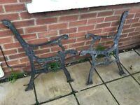 Garden bench ends cast iron