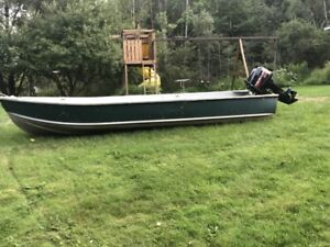 14 Foot Aluminum Boat and 8 HP Motor