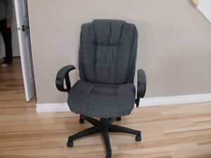 Grey, Swivel Fabric Office chair - barely used