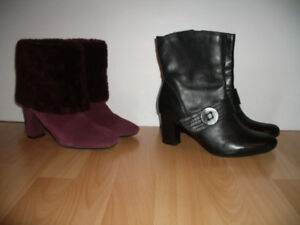 """like NEW """" ROCKPORT """" boots with natural fur-- size 6.5 US / 37"""
