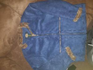 Cabelas Women's Sz L Faux Suede Coat