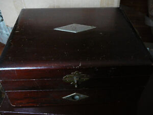 Antique flatware chest for breakfast or fruit service