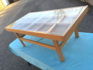 Unique & Rare Collectibles Display Coffee Table SEE VIDEO