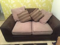 2x Brown Sofa