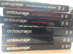 'Entourage' DVDs 1-5, six boxsets, great shape.