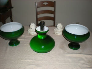 Antique art deco lamp shades
