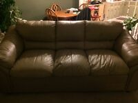 Brown leather couch - like new