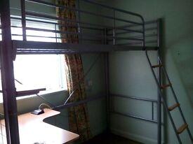 Bunk bed, nice kid office downstairs