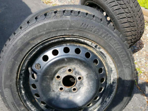 215-55-16 Winter Tires with Rims