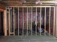 Framing, Basemnt frost wall framing,  Drop down ceiling; Residen