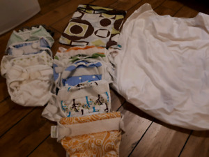 Cloth diapers and supllies