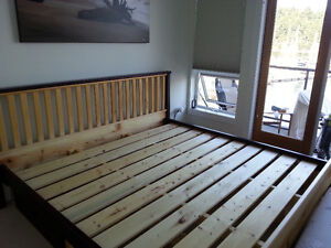 King Size Solid Wood Bed with Drawers