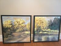 Pair of Modern Landscape Paintings