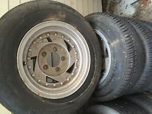 Chevy rims and tires off a s10 truck