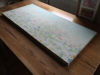 Printed floral canvas