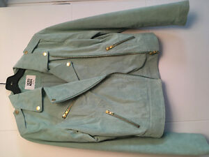 Vero Moda green suede jacket size small