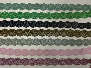 Assorted sewing / craft lace trim rolls