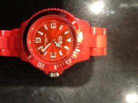 Ice watch in red complete with paperwork and original box