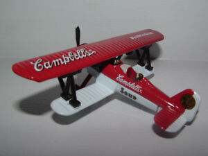 "Campbell's Soup 4"" Diecast Biplane  Collectible"