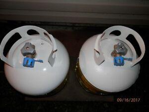 2 - 20lb Propane Tanks/Bottles with New Valves