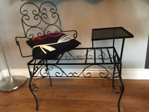 Antique telephone chair/ gossip bench