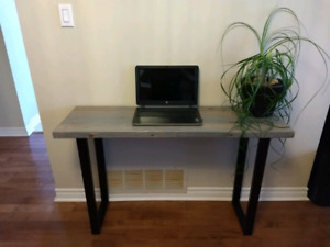 Custom Made Reclaimed Wood Desk / Console Table
