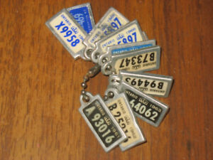 War Amp Key Tags 11 Pieces 1960s