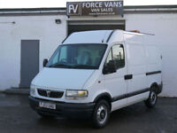 VAUXHALL MOVANO 3500 2.2 SWB HIGH POLICE WORKSHOP PANEL DELIVERY SITE TOOL VAN