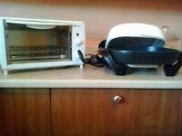 Four grille-pain et poêle électrique