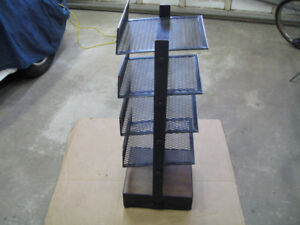 Black Industrial Shelf Unit / Shoe Rack