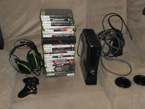 Xbox 360 Slim with 26 games and Turtle Beach headset $250 OBO