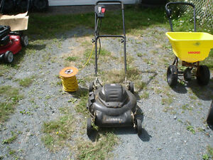 job mate electric 18''lawn mower with long extension cord