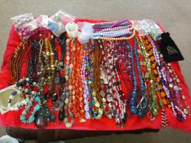 Necklace,bracelet, jewelry making, thread, job lot 30+ many extras