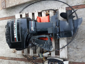 90 HP MERCURY OUTBOARD BLOWN UP