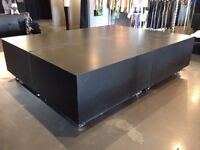 Modern custom display table fixtures for retail stores
