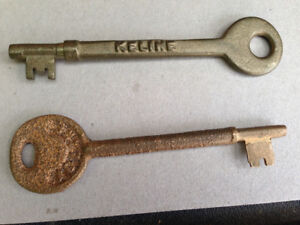 2 VINTAGE RAILWAY SWITCH CABIN KEYS CNR CPR *PLEASE READ THE AD*