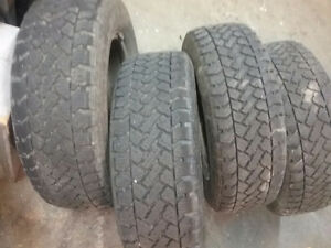 4, 205 -65-15 winter tires and rims 5 x 100. $200