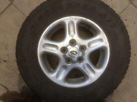 Freelander/defender off road wheel tyre