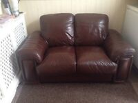 Brown colour 2 seater sofa DFS original Leather
