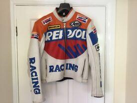 Leather motorcycle jacket Honda Repsol