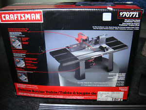 Craftsman Deluxe Router Table - Brand New In Box - Unused