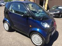 0404 Smart Smart 0.7 ( 61bhp ) Pure Black 2 Door 31584mls MOT Feb 2018 £30 Tax